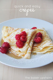 These delicious homemade crepes are quick and easy to make, and perfect for a special breakfast!