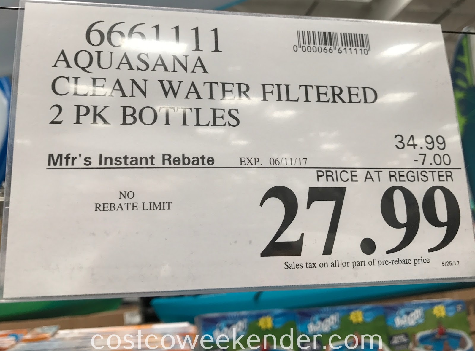Deal for a 2 pack of Aquasana Clean Water Bottle Filter Bottles at Costco