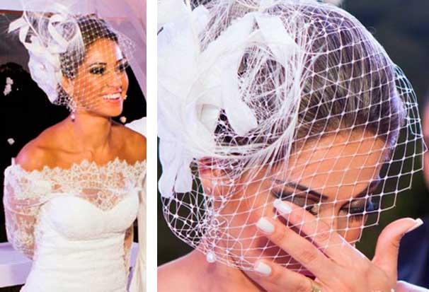 Voilette e casquete de noiva