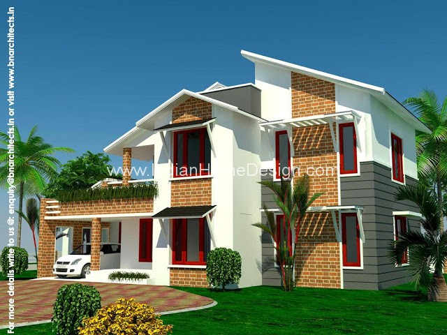 4 Bed Room House Design From Bn Architects