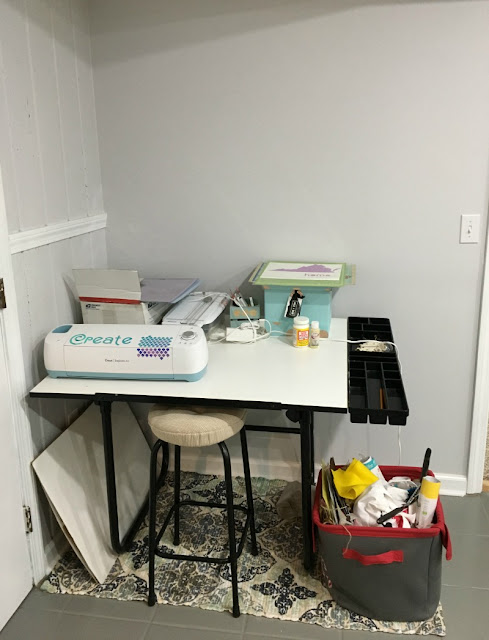 See how I organized my crafting supplies and created a craft space in a small area.