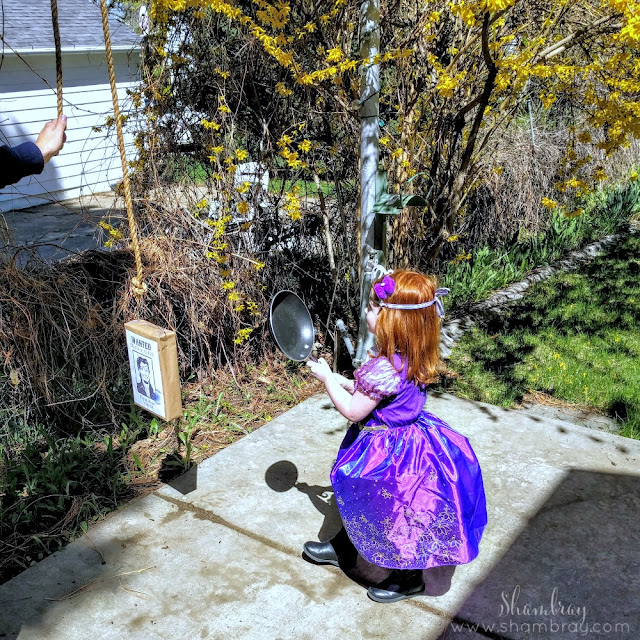 Princess Birthday Party-Games, frying pan, Tangled