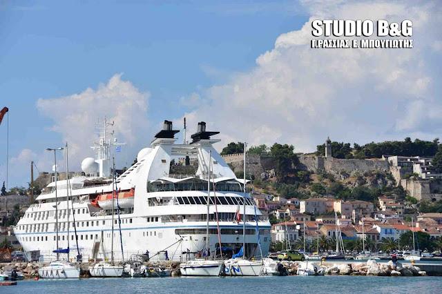 Το πολυτελές κρουαζιεροπλοιο Star Pride στο Ναύπλιο με 415 επιβάτες (βίντεο)