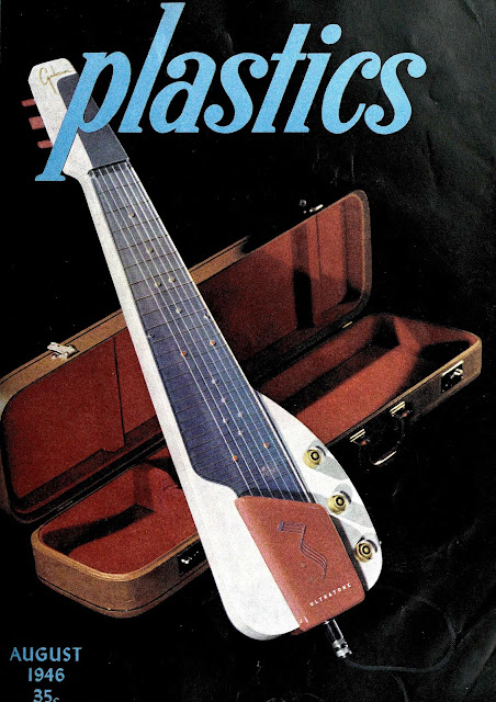 photograph of A 1946 Gibson Ultratone steel guitar with plastic body