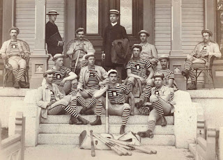 A photograph of the 1880 baseball team.