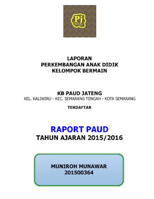 Contoh Format Raport PAUD Terbaru Lengkap