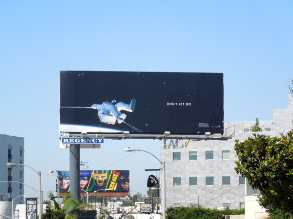Gravity movie billboard ad