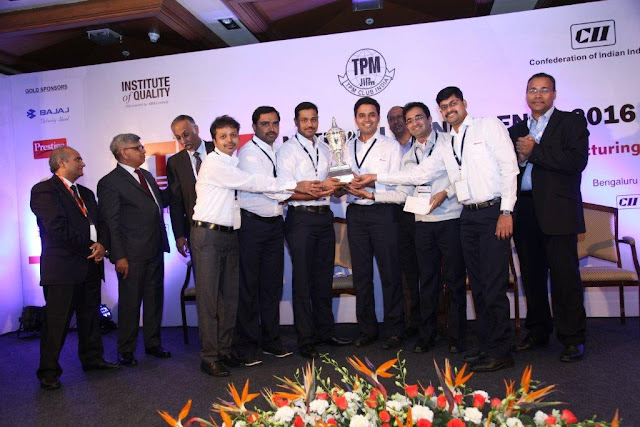 "Toyota Kirloskar Motor bags award in ""Breakthrough Kaizen Category"" at the CII TPM Club, ""Champions Competition 2016"""