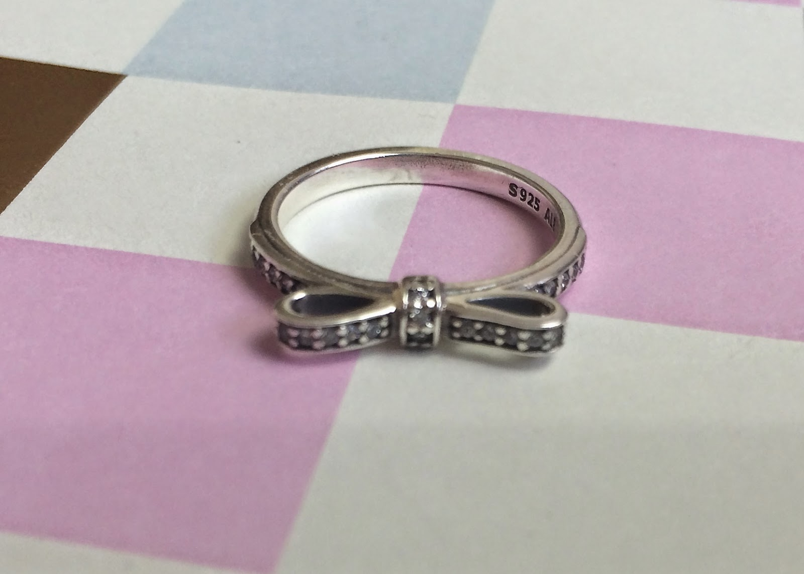 Pandora delicate bow ring from Argento.co.uk | flutter and ...