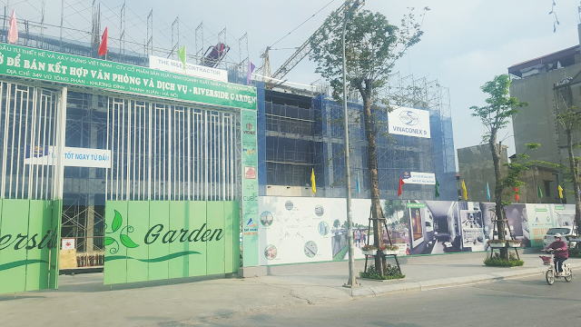 Cập nhật tiến độ xây dựng dự án Riverside Garden