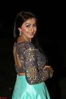 Nikki Galrani in Green Skirt  Top at Marakathamani music launch ~  Exclusive (118).JPG