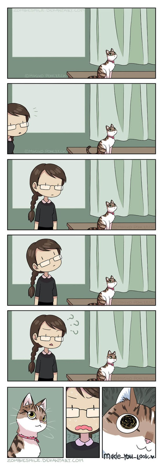 Artist Illustrates Cute Comics About Her Daily Life With Her Partner And Cat