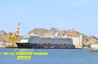 a view from the left side of the ship whilst @ PSQ Oman