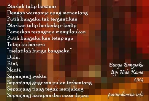Judul puici bunga bangsa Indonesia