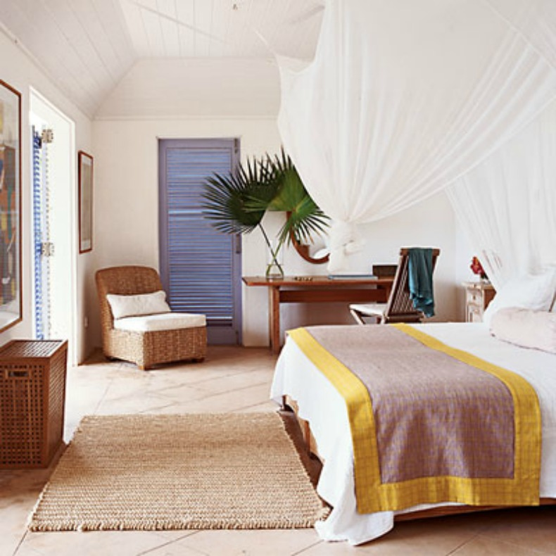 Romantic coastal bedroom