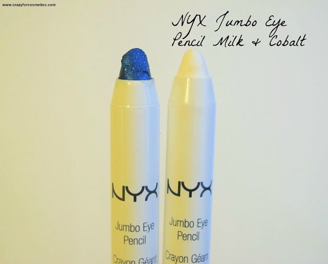 NYX Jumbo Eye Pencils in Cobalt & Milk Review