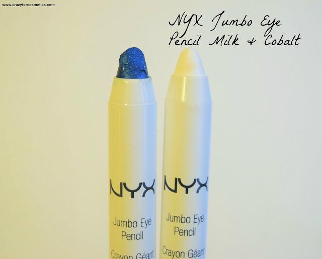 NYX Jumbo Eye Pencils in Cobalt & Milk Review