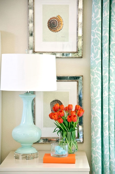 blue and orange room by Tobi Fairley