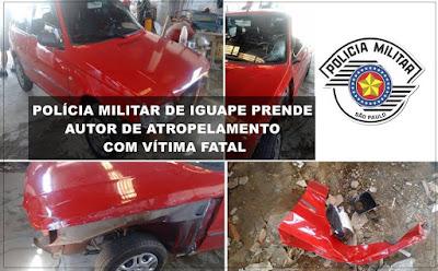 POLÍCIA MILITAR IDENTIFICA E PRENDE MOTORISTA QUE ATROPELOU FAMÍLIA E OCASIONOU A MORTE DE IRMÃ DE POLICIAL MILITAR EM IGUAPE