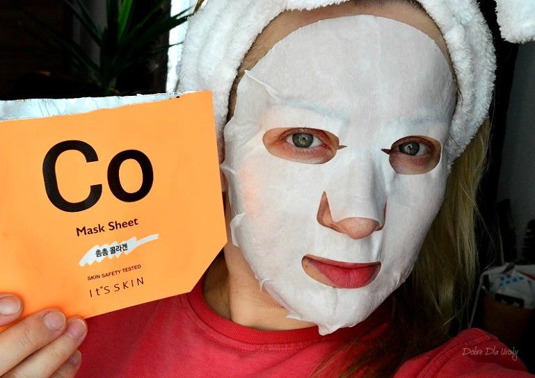 IT'S SKIN Power 10 Formula Mask Sheet CO Ujędrniająca maska w płachcie z kolagenem recenzja