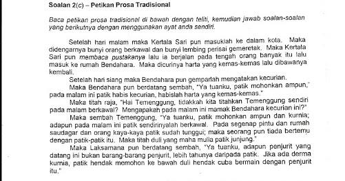 Laman Bahasa Melayu Spm Nota Prosa Tradisional Kepimpinan Melalui Teladan Ting 4