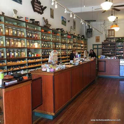 interior of Lhasa Karnak Herb Company in Berkeley, California