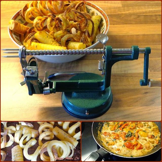Apfel- und Kartoffelschälmaschine - apple and potato peeler