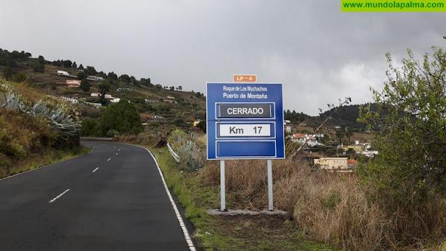 Cierre de la carretera LP-4 de acceso al Roque de Los Muchachos