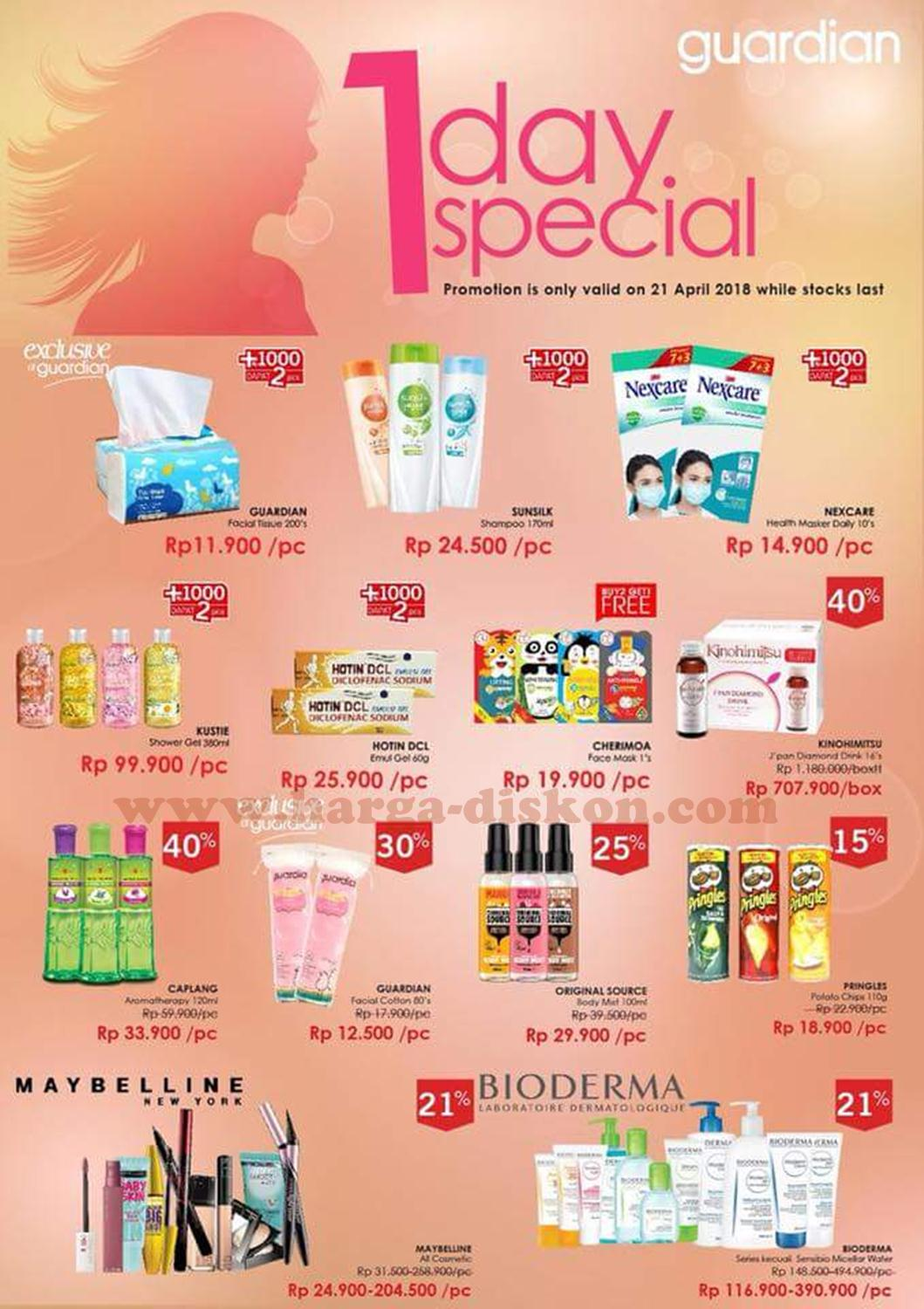 Promo Guardian Terbaru 1 Day Special Periode 21 April 2018 Harga Promo