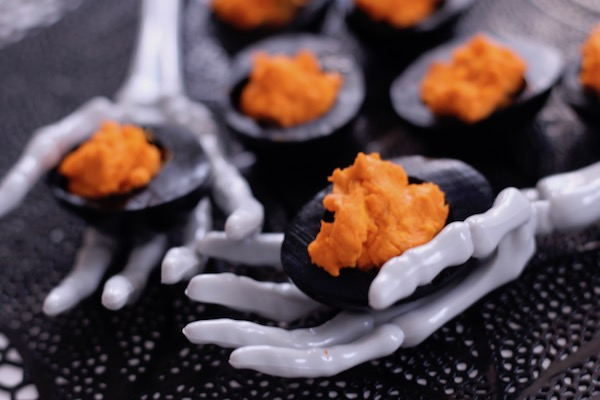 Diary of a Mad Hausfrau: Black & Orange Deviled Eggs for Your ...