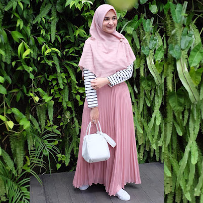baju muslimah pink 2019
