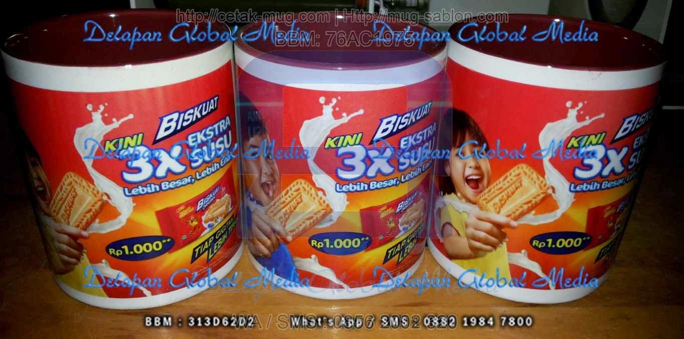 Souvenir Cetak Mug Dalam Warna Sablon Promosi