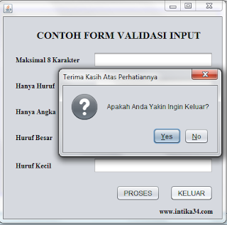 netbeans, tutorial netbeans, validasi, form validasi