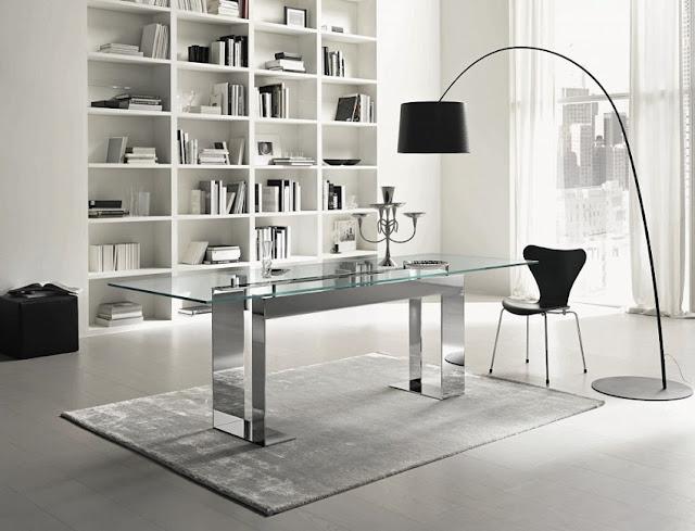best buy modern glass home office desks sets for sale
