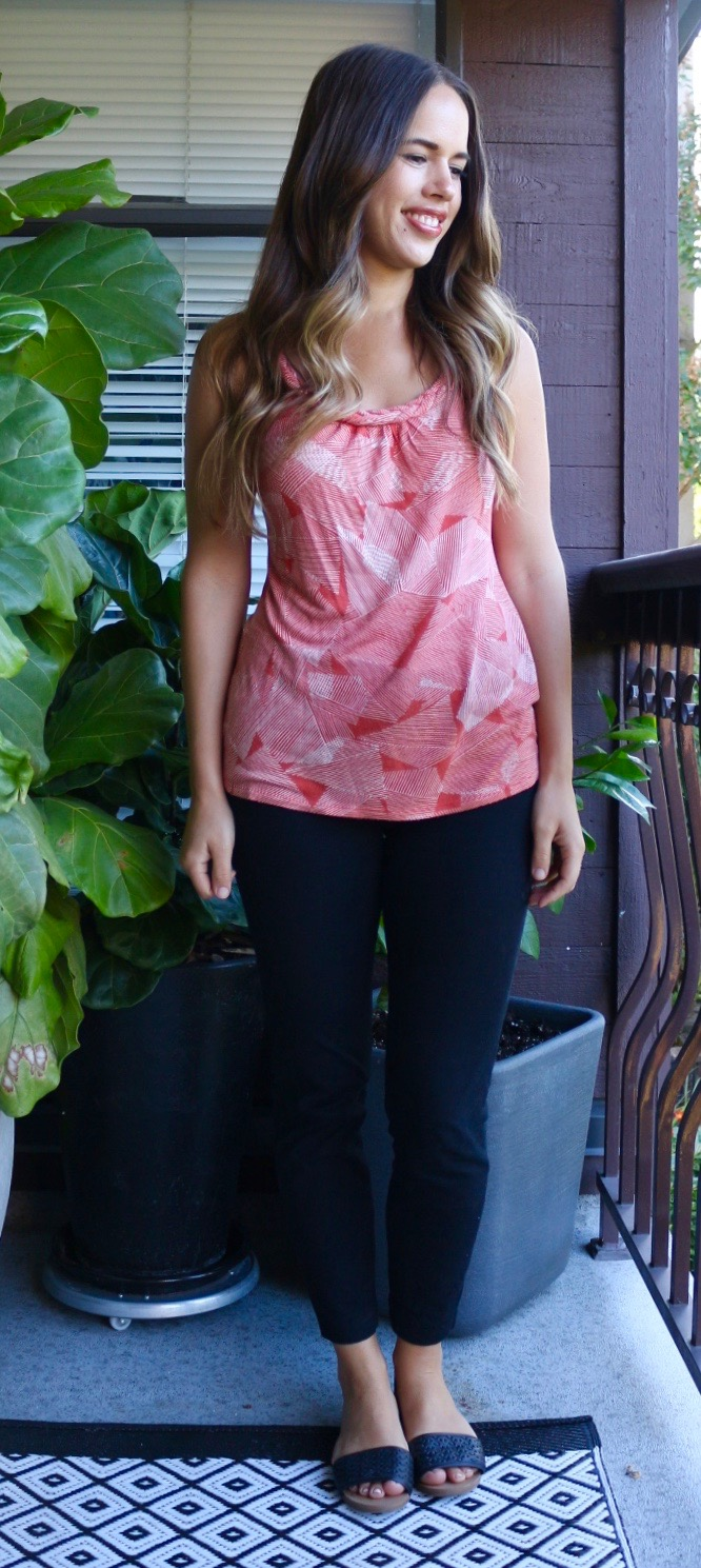 Jules in Flats - Orange Abstract Tank