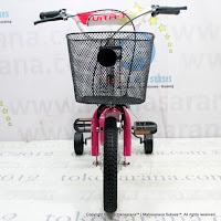 Sepeda Anak Vita-T Classic 12 Inci Keranjang + Bocengan dengan Jok Busa