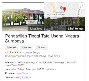Lowongan Kerja Pengadilan Tinggi Tata Usaha Negara (PTTUN) surabaya