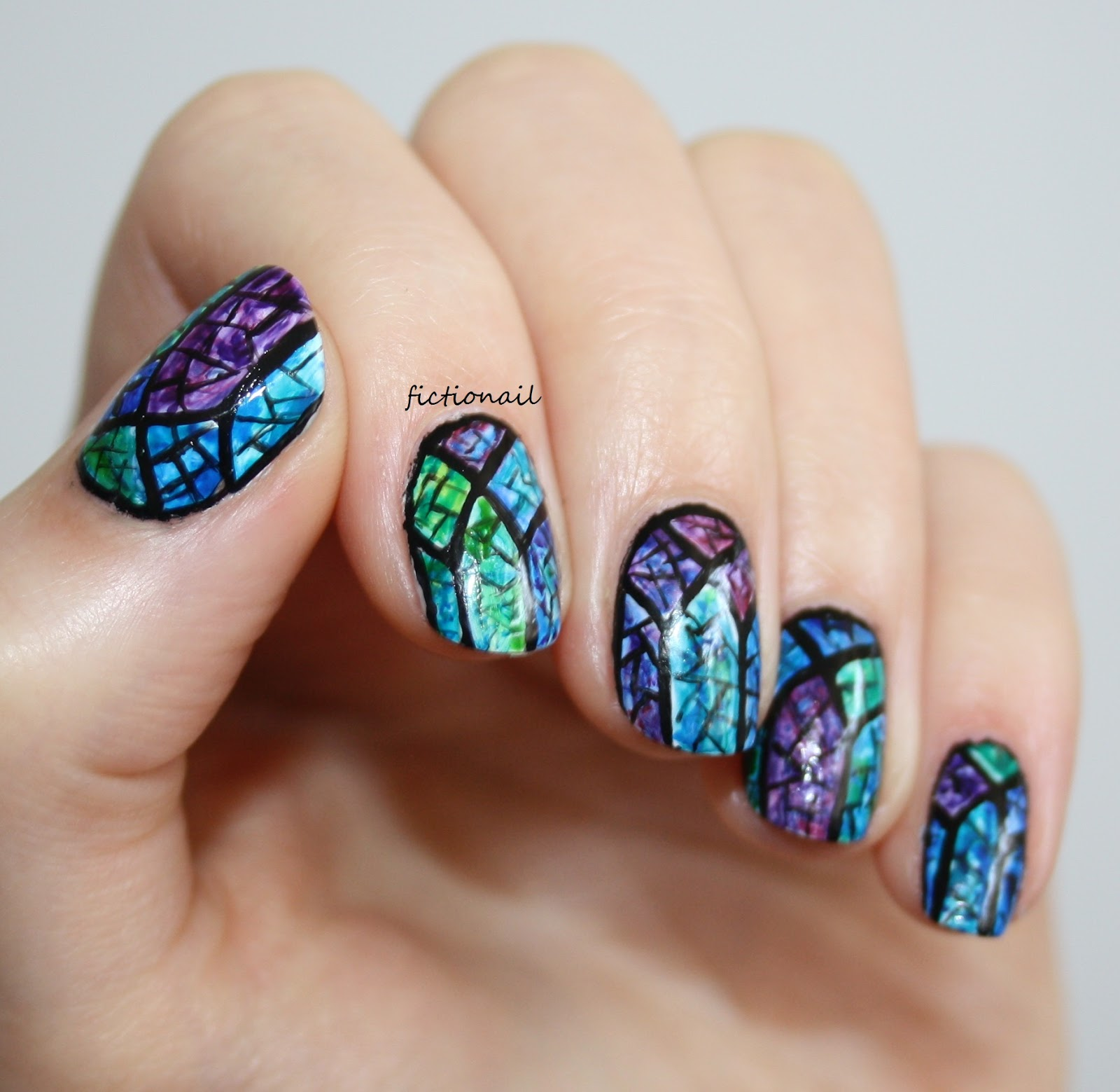 Stained Glass Nail Art: Stained Glass Windows Nails