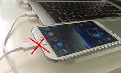 cas hp dengan laptop