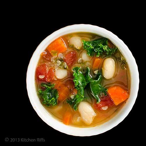 Kale, Quinoa, and White Bean Soup