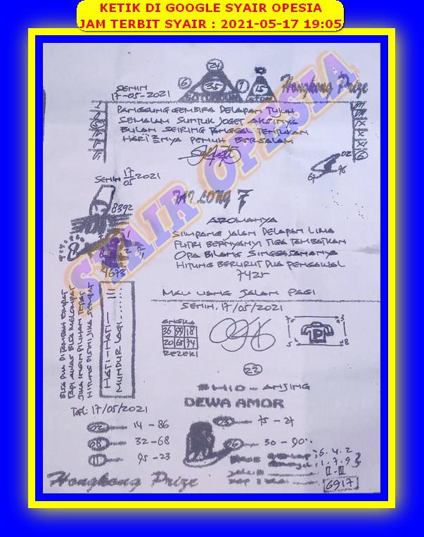 Syair opesia hk 03 mei 2021