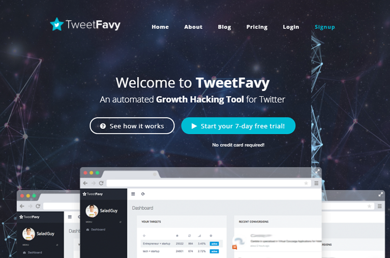 TweetFavy helps you automate your Twitter marketing