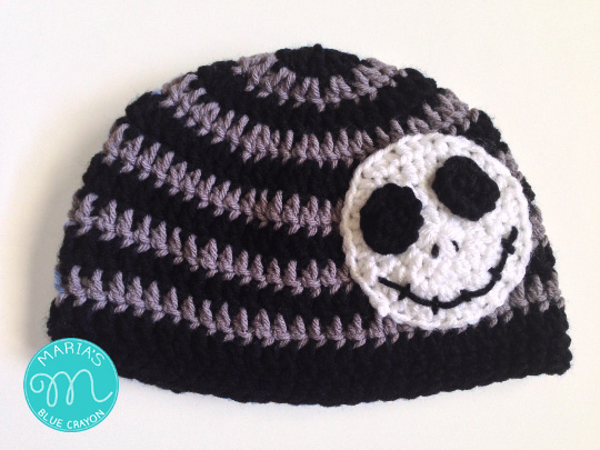 Skeleton Beanie Crochet Pattern Marias Blue Crayon