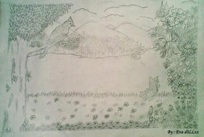 Sketsa pemandangan. Pen & Pencil Draws - Gambar Penuh Imajinasi