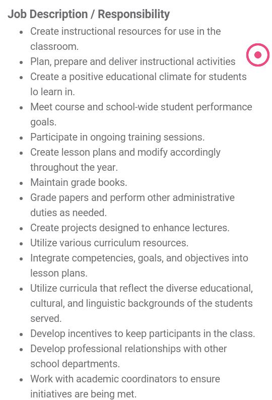 Teacher job circular Middle School Mathematics teacher job – Middle School Math Teacher Job Description