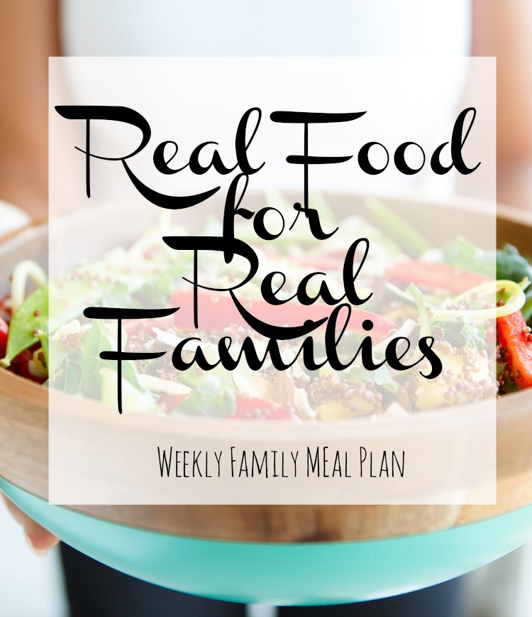 Weekly Family Meal Plan July 3 2017