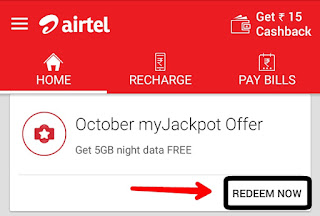 Airtel Free Internet kaise chalate hai myJackpot offer se