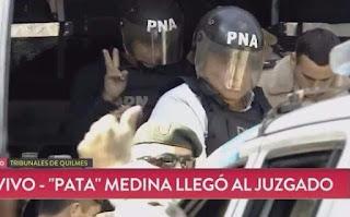 EL PATA MEDINA Y OTROS SINDICALISTAS EN PLENA CAÍDA JUNTO A LA CORRUPCIÓN PERONISTA