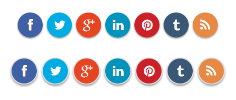 Round Social Media Buttons using CSS