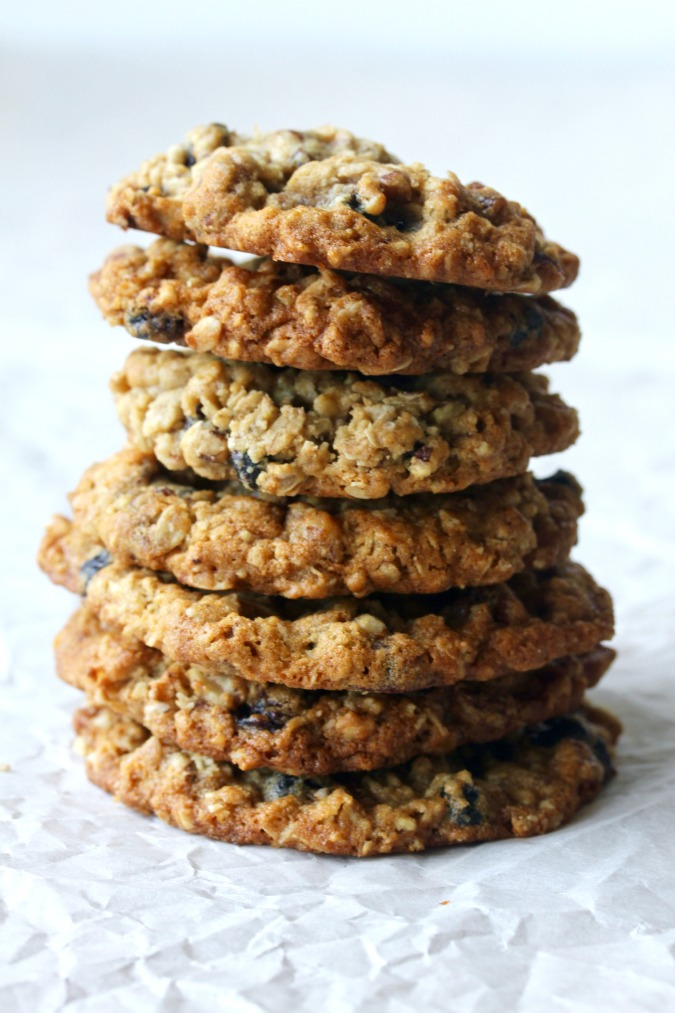 These Triple Oatmeal Cookies are loaded with three kinds of oats, along with dried blueberries.